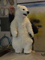 animatronic polar bear cub